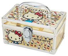 Hello Kitty Vanity Case Yellow $15.00 http://thingsfromjapan.net/hello-kitty-vanity-case-yellow/ #hello kitty stuff #sanrio products #hello kity