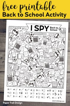 Free Printable I Spy Back to School Activity. Classroom themed activity or game idea for the first day of school for students. Free Printable I Spy Back to School Activity. Classroom themed activity or game idea for the first day of school for students. First Day Of School Activities, 1st Day Of School, Beginning Of The School Year, School Classroom, Classroom Activities, School Days, Middle School, Activities For Students, Back To School Art Activity