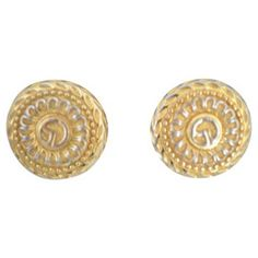 Check out this item at One Kings Lane! St. John Two-Tone Clip-Back Earrings