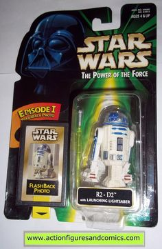 Kenner/Hasbro toys STAR WARS: power of the force / potf II 2 potf2 action figures for sale to buy 1998 flashback R2-D2 with launching lightsaber NEW - still factory sealed in the original package Cond
