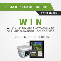 I just entered to win a framed Augusta photo collage and golf balls from LostGolfBalls.com!