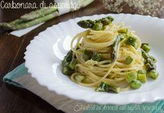 Carbonara di asparagi vegetariana con pecorino