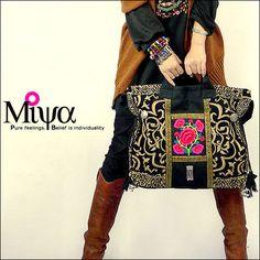 Original Design Thai Style Miya Embroidery Handbags Ethnic Embroidered Tote/Shoulder Bags Boho Bag(China (Mainland))