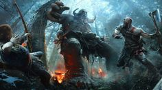 Download God of War 4 Kratos with Son Fighting HD 1920x1080