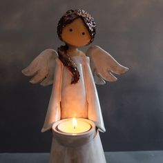 Wonderful Totally Free pottery art ceramics Thoughts Lichterengel bei www. Slab Pottery, Pottery Mugs, Ceramic Pottery, Pottery Art, Ceramic Art, Pottery Plates, Christmas Angels, Christmas Crafts, Cerámica Ideas