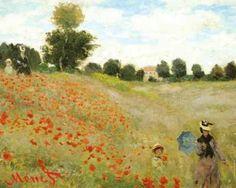 "The Poppy Field, near Argenteuil by Claude Monet. Art Poster Print 20"" x 16""."