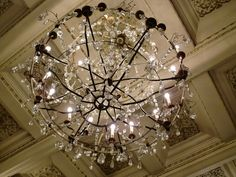 Chandelier from the Bristol Hotel, Oslo. Norwegian Wood, Oslo, Bristol, Chains, Hotels, Chandelier, Journey, Ceiling Lights, Interior