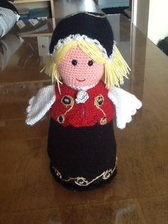 Traditional Norwegian 'bunad' hand crocheted in Talin