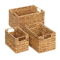 Rectangular Black Wire Display Basket With Wood Handles 96670