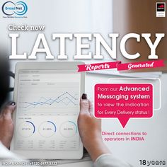Check now LATENCY reports generated from Broadnet to view the indication for every delivery status ! Email: sales@broadnet.me India branch: +9120 6977 3333 #SMS #Messagingsystem #SMSmarketing #India #Bulksmsprovider #Marketingideas #NewDelhi Android Application Development, Finance, Web Design, Delivery, India, Messages, Marketing, Check, Design Web