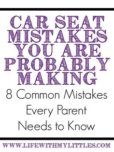 8 common car seat mistakes every parent needs to know! Learn how to install your car seat in the right way! New Parents, New Moms, Baby Hacks, Baby Tips, Mom Hacks, Baby Ideas, Life Hacks, Baby Poses, Before Baby