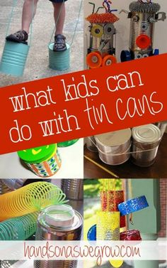 26 Tin Can Crafts & Activities For Kids! – Jamie Reimer 26 Tin Can Crafts & Activities For Kids! 26 Tin Can Crafts & Activities For Kids! Craft Activities For Kids, Projects For Kids, Diy For Kids, Craft Projects, Elderly Activities, Dementia Activities, Kids Fun, Summer Activities, Physical Activities