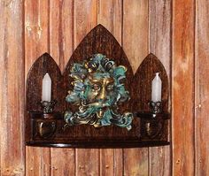 Hey, I found this really awesome Etsy listing at https://www.etsy.com/listing/280248430/antiqued-bacchus-wall-sconce-with-shelf