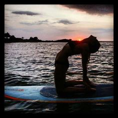 Stand Up Paddle Yoga - get out the gym and enjoy the great outdoors with SUP. Check out http://www.sup-culture.com for more info or contact coachcouve@gmail.com