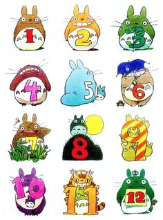 Totoro counting chart. I could totally put this in my future classroom!