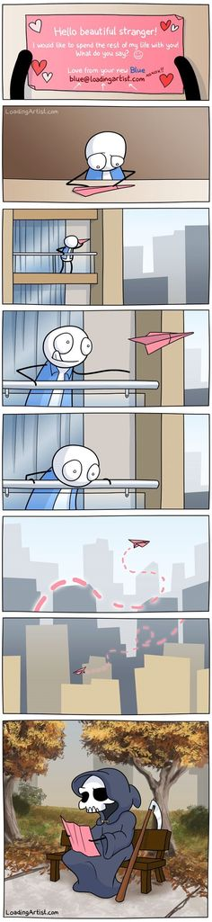 Funny comic strips - Love Is In The Air by Loading Artist Funny Cute, Really Funny, Hilarious, Cute Comics, Funny Comics, Stupid Funny Memes, Funny Posts, Funny Stuff, Image Hilarante