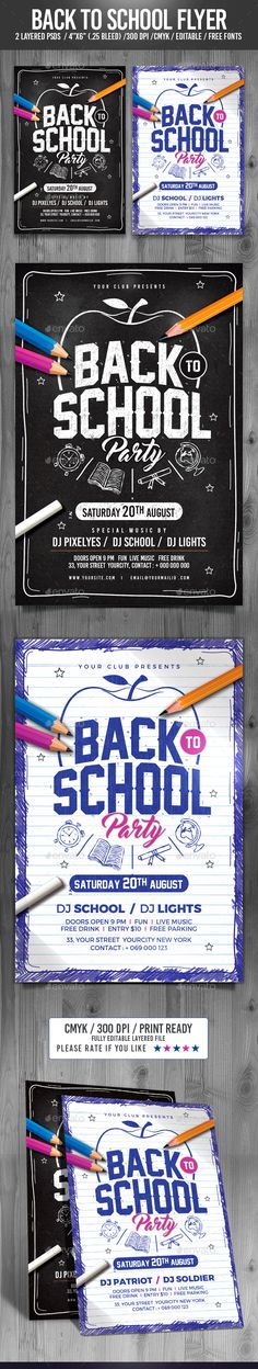 Back to School Flyer — Photoshop PSD #party flyer #back to school flyer • Available here → https://graphicriver.net/item/back-to-school-flyer/17113217?ref=pxcr