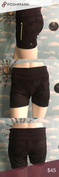 Lululemon Shorts Excellent preowned condition, like new-rip tag still in tact. Luxtreme, size 8. Camouflage pattern. Bundle & save! Poshmark rules only! Reasonable offers welcome! 🚫No Trading! I value the trust it takes to purchase items from a complete strangers closet and I will personally guarantee your satisfaction! Thanks! lululemon athletica Shorts