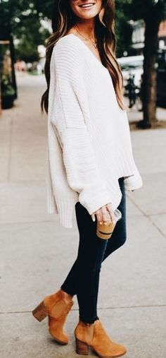 Winter Outfits Ideas For Women 2019 - Outfits - Casual Outfits Cute Fall Fashion, Fall Fashion Outfits, Autumn Winter Fashion, Fashion Trends, Fall Fashions, Fashion Ideas, Fashion Fashion, Fashion Dresses, Fashion Women