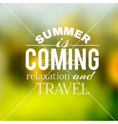 Label of the summer travel on a green background vector by Kotkoa on VectorStock®