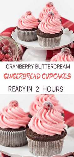 Gingerbread Cupcakes with Cranberry Buttercream Frosting Gingerbread Cupcakes with Cranberry Buttercream Frosting S Life slifehealthy Christmas Recipes Gingerbread cupcakes with cranberry buttercream frosting combine two of nbsp hellip Cupcake flavors Christmas Cupcake Flavors, Christmas Cupcakes, Holiday Desserts, Christmas Recipes, Christmas Ideas, Cupcake Frosting, Buttercream Frosting, Cupcake Cakes, Gingerbread Cupcakes