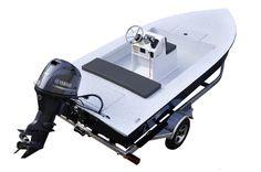 SKIFF 165 Un skiff en aluminium tout soudé, construit pour durer. Small Fishing Boats, Baby Strollers, Baby Prams, Prams, Strollers