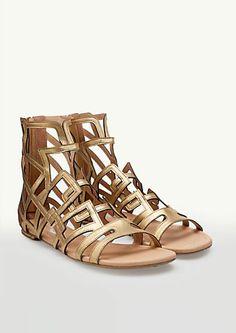 image of Geo Cutout Gladiator Sandals