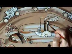 Роспись шелка профессиональными красками. Mастер-класс Светланы Крашенинниковой (Svetlana Salitan) - YouTube