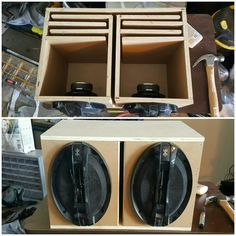 Had a pair of 6x9 speakers laying around so i threw together a little ported box.