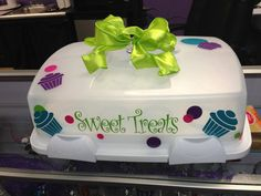 Sweet Treats Personalized Cupcake Carrier Taker by MemoryMakersLLC, $39.99