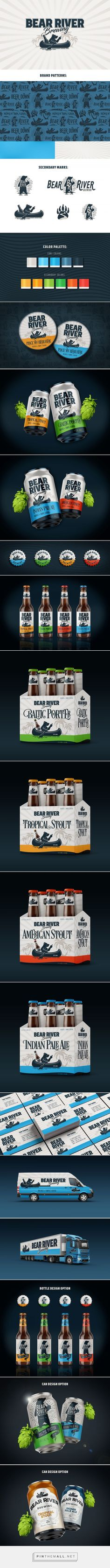 Packaging of the World is a package design inspiration archive showcasing the best, most interesting and creative work worldwide. Beer Bottles, Packaging Design Inspiration, Package Design, Fundraising, North America, Brewing, Identity, Bear, River