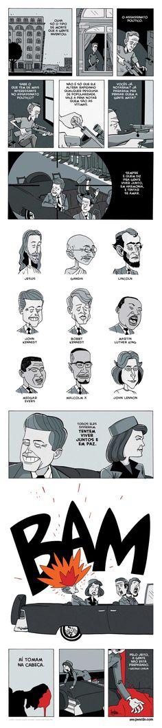 Zen Pencils - George Carlin - On Assassination George Carlin, Comics Story, Bd Comics, Short Stories, True Stories, The Awkward Yeti, Short Comics, Faith In Humanity, Assassin