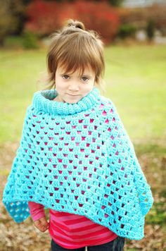 Mommy and Me Poncho Set Crochet Pattern PDF 490 $3.95