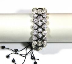 Shamballa bracelet in two rows - Fair Masters - handmade, handmade