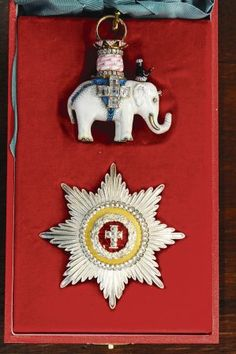 Order of the Elephant - Knight's set of insignia