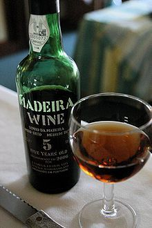 Madeira Wine (Portugal). 'Madeira is a fortified wine, produced in the Madeira Islands; varieties may be sweet or dry. It has a history dating back to the Age of Exploration when Madeira was a standard port of call for ships heading to the New World or East Indies.' http://www.lonelyplanet.com/portugal