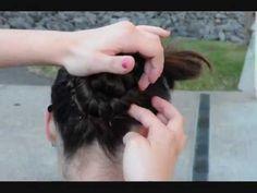 How to: Rhythmic Gymnastics Hair Tutorial [Front twist w/a 2 braid bun].