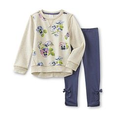 WonderKids Infant & Toddler Girl's French Terry Sweatshirt & Leggings