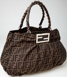 Heritage Vintage  Fendi Classic Monogram Canvas Shoulder Bag. ...
