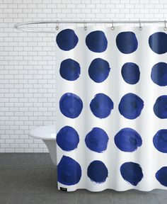 Blue Dots als Duschvorhang von Amy Sia   JUNIQE