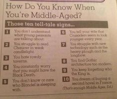 How to Know if you are Middle. Aged