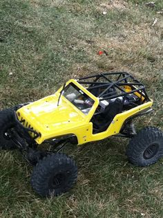 My birthday present from my wonderful hubby.  I love this thing!  Axial Wraith with a Jeep body.  : )