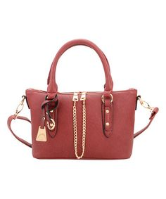 Love this Wine Pebbled Convertible Tote by Fabulous Age on #zulily! #zulilyfinds