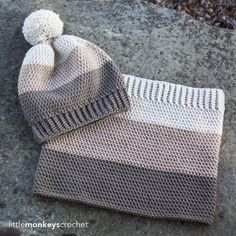 Carlyle Slouch Hat & Cowl Crochet Pattern Set | Free slouchy hat & cowl…