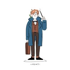 juuuuuuuuuuust got back from fantastic beast and where to find them ! Fantastic Beasts Fanart, Fantastic Beasts And Where, Harry Potter Fan Art, Harry Potter Characters, Fictional Characters, All Is Well, The Wiz, Nerdy, Films