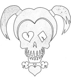 Harley Quinn Skull from Suicide Squad