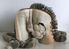 "Paper + Book + Art | 紙 + 著作 + アート | книга + бумага + статья | Papier + Livre + Créations Artistiques | Carta + Libro + Arte | By Andrea Singer, ""enough, never"" (2011)."