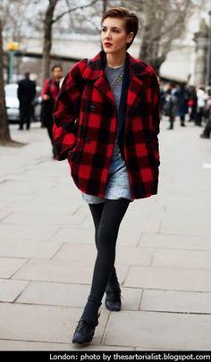 Plaid / Tartan Trend: Street Style