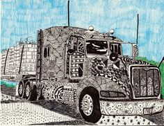 The Giggling Truckers Wife Writes: Resolutions under Pressure - amazing Zentangle!