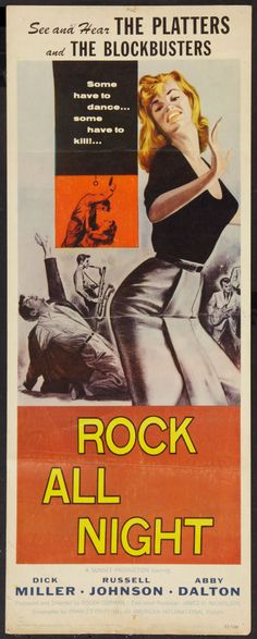 Rock and Roll movie posters   Movie Posters:Rock and Roll, Rock All Night (American International ...